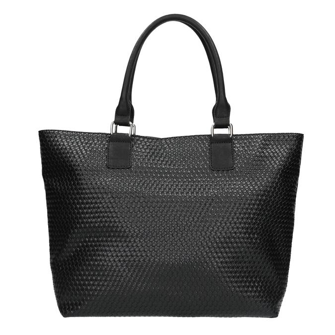 Dámská kabelka s propleteným vzorem bata, černá, 961-6651 - 26