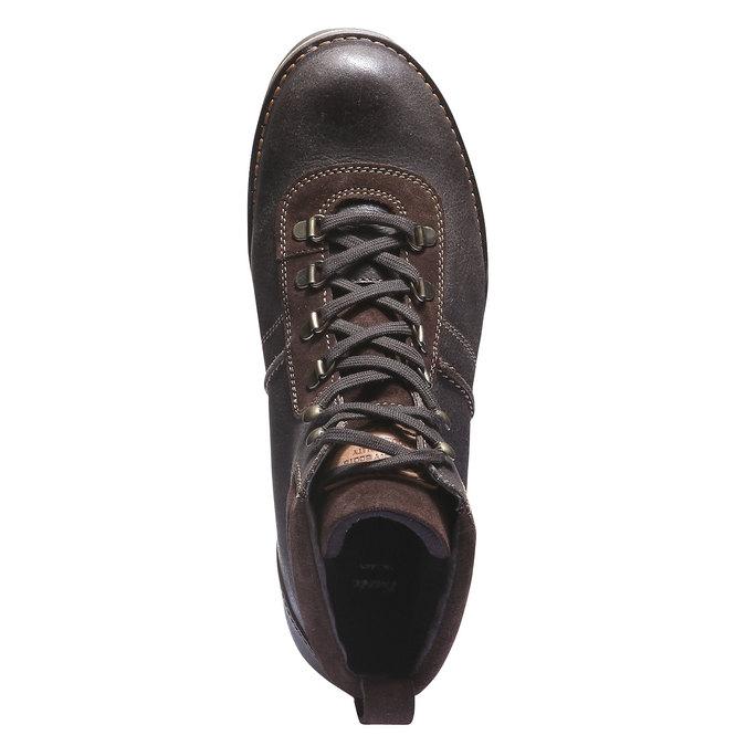 Kožená kotníčková obuv bata, hnědá, 894-4343 - 19