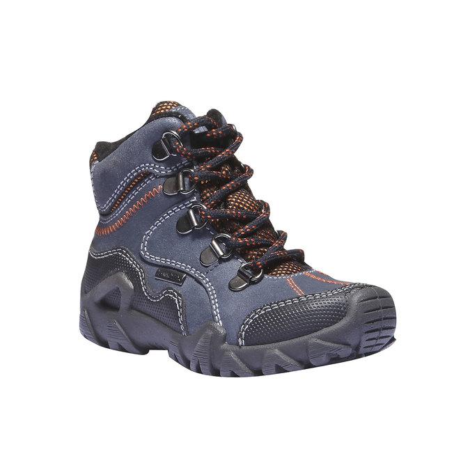 Dětské vysoké kožené boty mini-b, modrá, 416-9100 - 13