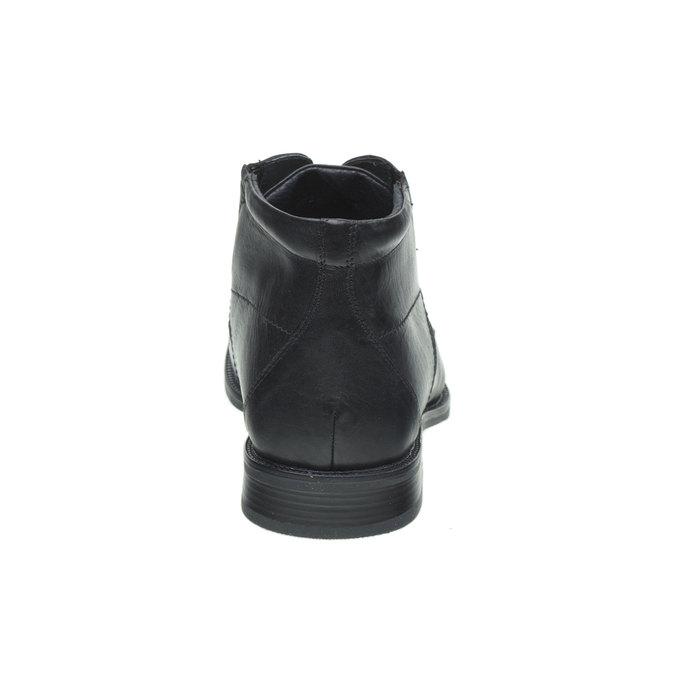 Kožené polobotky bata, černá, 894-6429 - 17