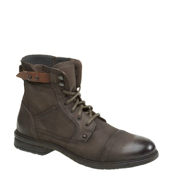 Kožené kotníkové boty bata, šedá, 894-2165 - 13