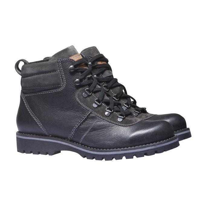 Kožená kotníčková obuv bata, černá, 894-6343 - 26