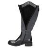 Dámské kozačky v jezdeckém stylu bata, černá, 594-6630 - 19