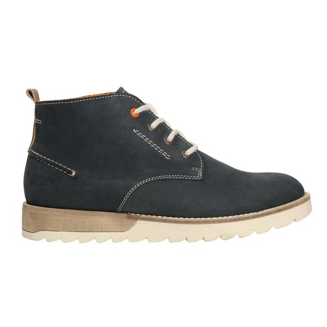Pánské kožené chukka boots weinbrenner, modrá, 846-9629 - 26