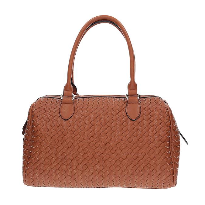 Bowling kabelka s propleteným vzorem bata, hnědá, 961-3629 - 26