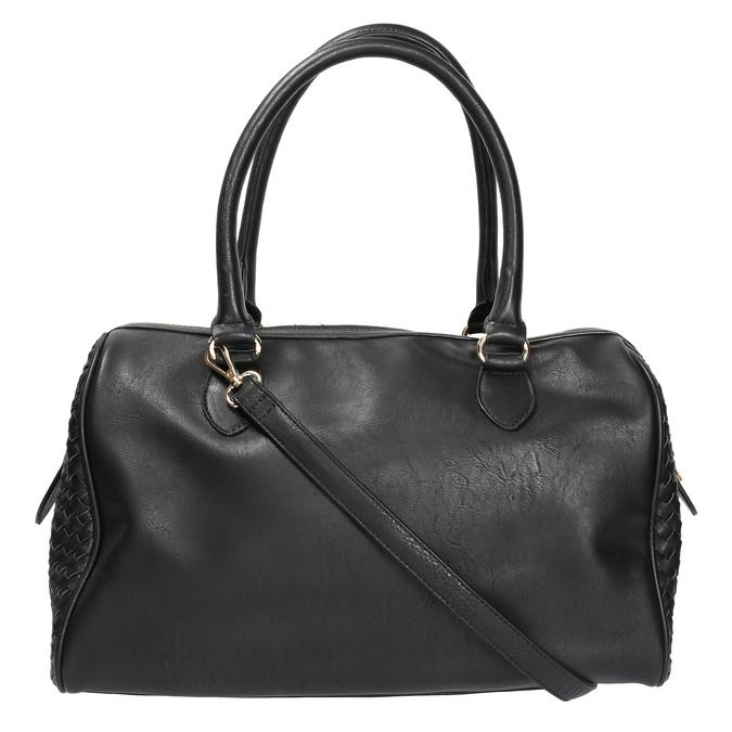 Bowling kabelka s propleteným vzorem bata, černá, 961-6629 - 26