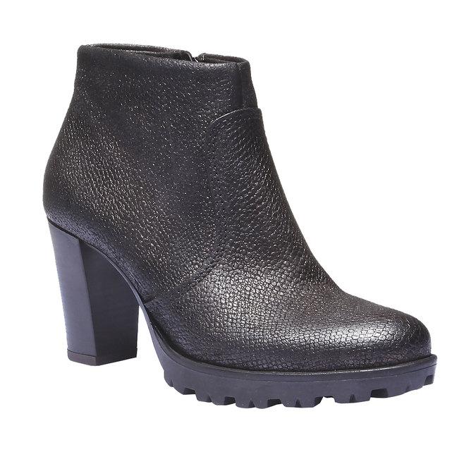 Kožené kotníčkové boty bata, šedá, 796-2107 - 13