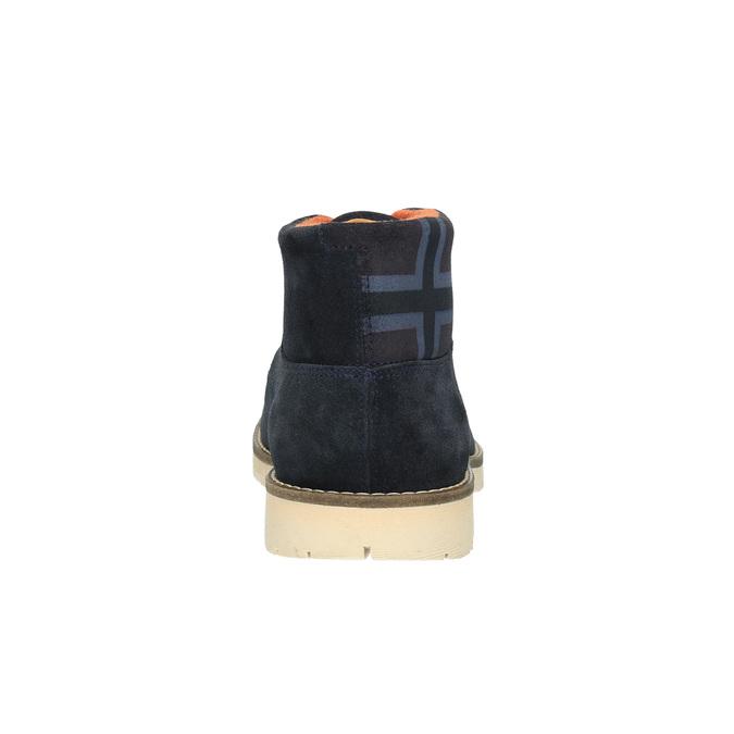 Kožená kotníčková obuv napapijri, modrá, 893-9003 - 17