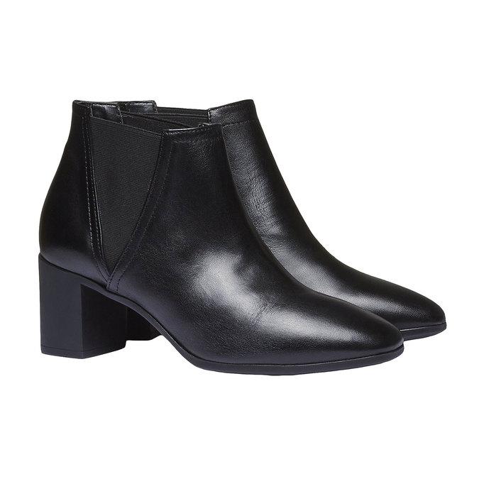Dámská kotníčková obuv flexible, černá, 694-6627 - 26