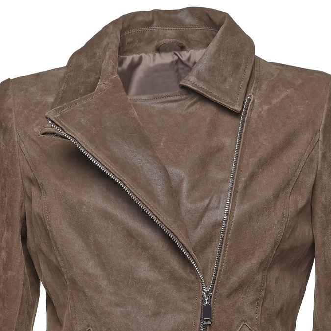 Dámská kožená bunda bata, hnědá, 973-4107 - 16