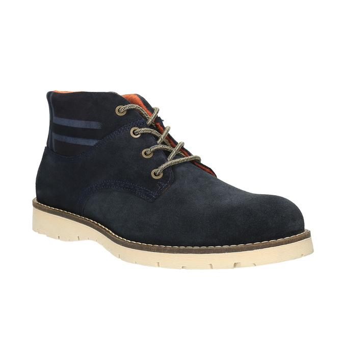 Kožená kotníčková obuv napapijri, modrá, 893-9003 - 13