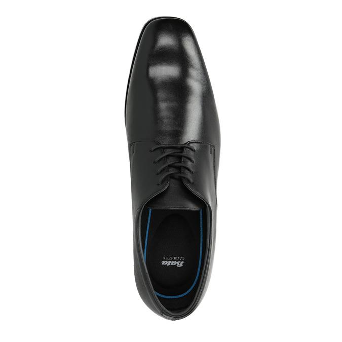 Pánské kožené polobotky bata, černá, 824-6752 - 19