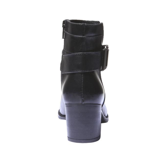 Kožená kotníčková obuv bata, černá, 794-6524 - 17