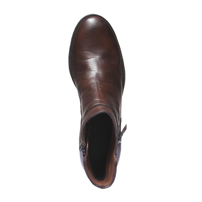 Kožená kotníčková obuv bata, hnědá, 694-4166 - 19