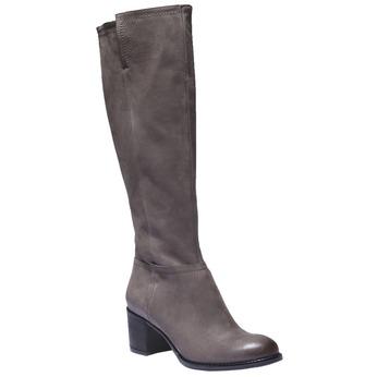 Kožené kozačky bata, šedá, 696-3100 - 13