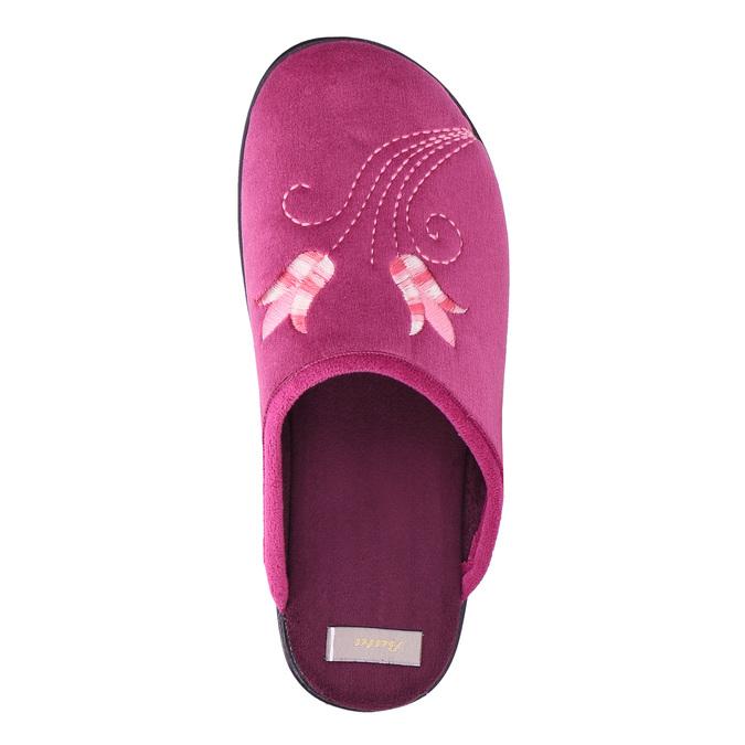 Dámská domácí obuv s výšivkou bata, růžová, 579-0603 - 19