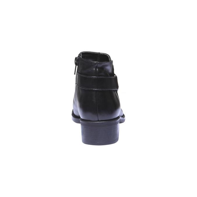 Kožené kotníkové boty s páskem bata, černá, 694-6159 - 17