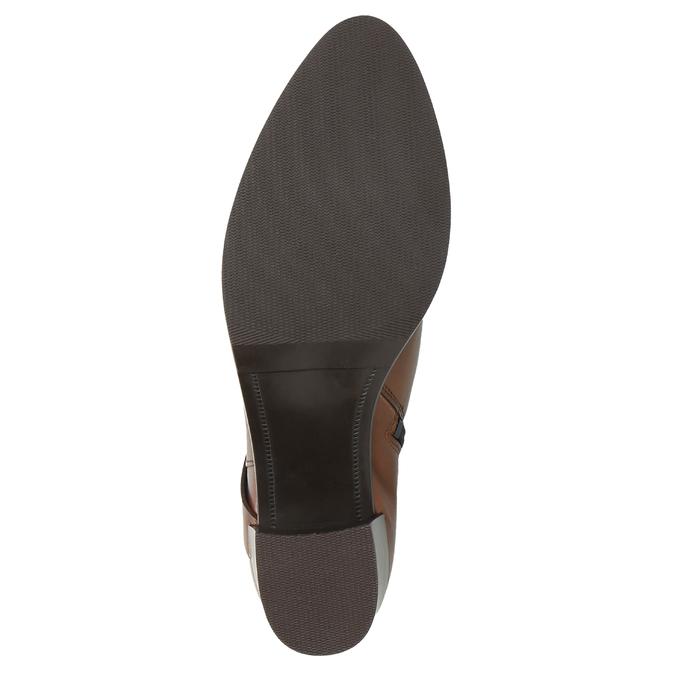 Kožené kozačky na stabilním podpatku bata, hnědá, 696-4615 - 26
