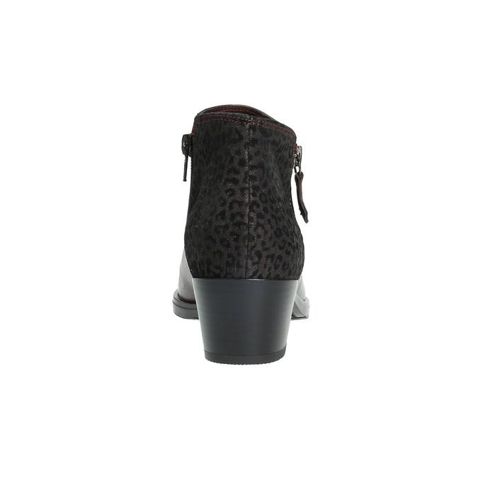 Kožená kotníčková obuv na nízkém podpatku bata, červená, 696-5613 - 17