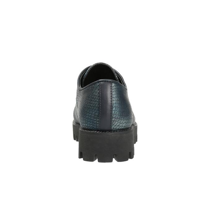 Dámské polobotky bata, tyrkysová, 521-9600 - 17