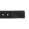 Kožený opasek s prošitím bata, černá, 954-6147 - 16