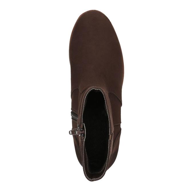 Kotníčková obuv na flatformě bata, hnědá, 699-4601 - 19