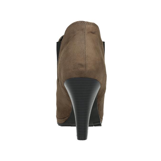 Kotníčkové kozačky na podpatku s pružnými boky bata, béžová, 799-2601 - 17