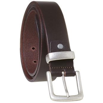 Pánský kožený opasek hnědý bata, hnědá, 954-4162 - 13
