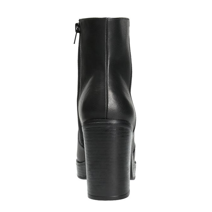 Kotníčková obuv na masivním podpatku bata, černá, 791-6601 - 17
