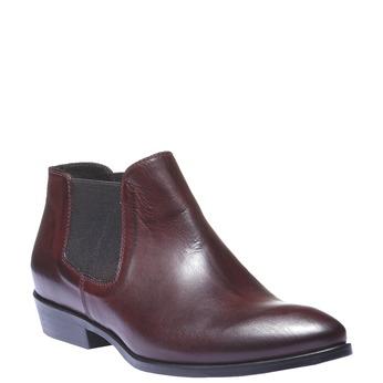 Kožená kotníčková obuv ve stylu Chelsea Boots bata, červená, 594-5106 - 13