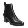 Kožená kotníčková obuv na stabilním podpatku ten-points, černá, 714-6006 - 13