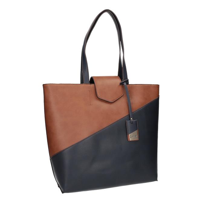 Dvoubarevná dámská kabelka gabor-bags, modrá, 961-9002 - 13