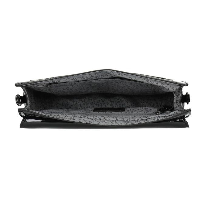 Malá dámská kabelka v lakované úpravě gabor-bags, černá, 961-6004 - 15
