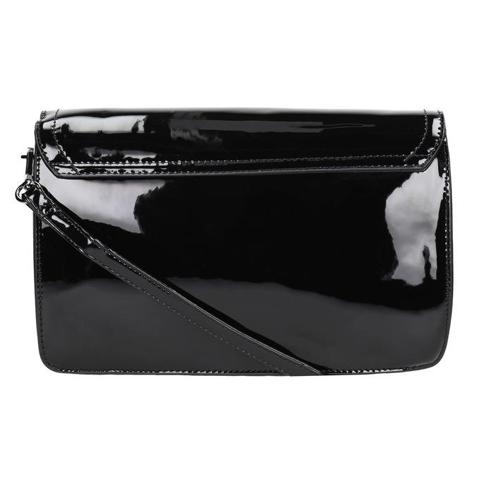 Malá dámská kabelka v lakované úpravě gabor-bags, černá, 961-6004 - 19
