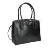 Černá kožená kabelka s pevnými uchy royal-republiq, černá, 964-6014 - 13