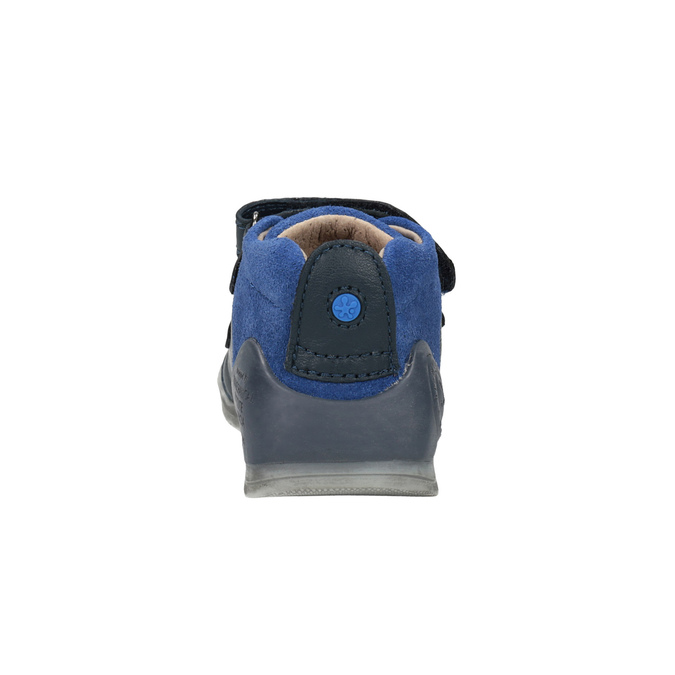 Dětská kožená obuv na suché zipy biomecanics, modrá, 114-9001 - 17