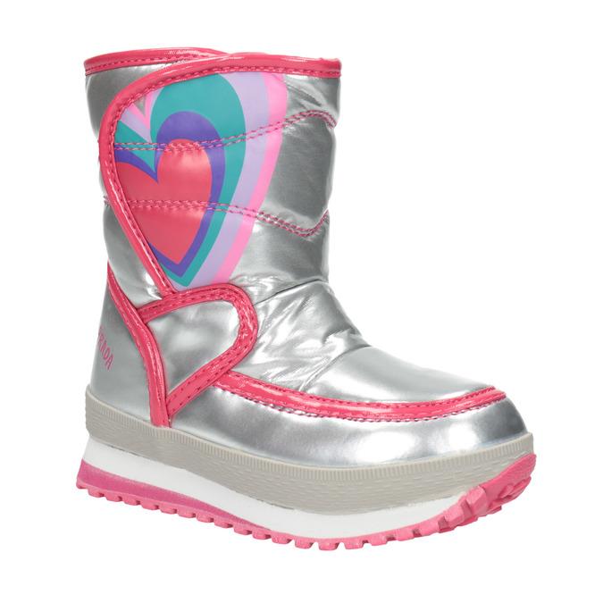 Dívčí zimní obuv stříbrná, stříbrná, 399-1001 - 13