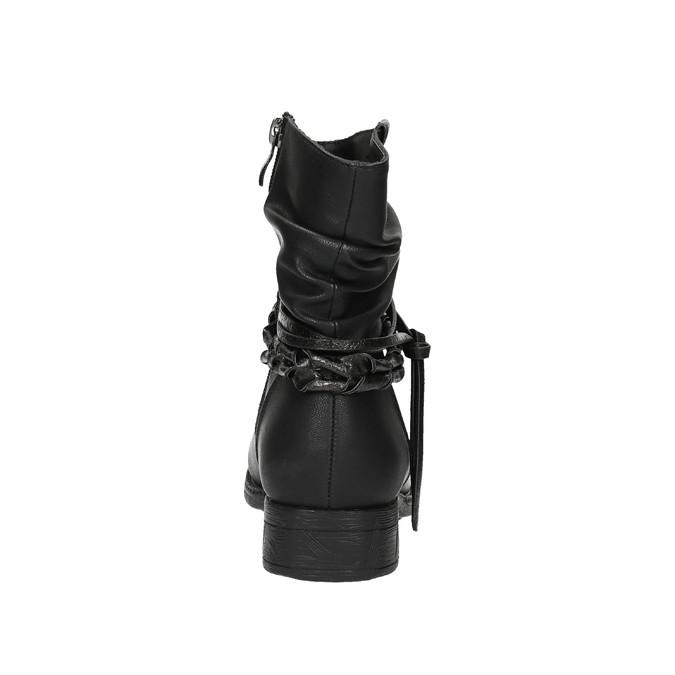 Černé kotníčkové kozačky bata, černá, 591-6610 - 17