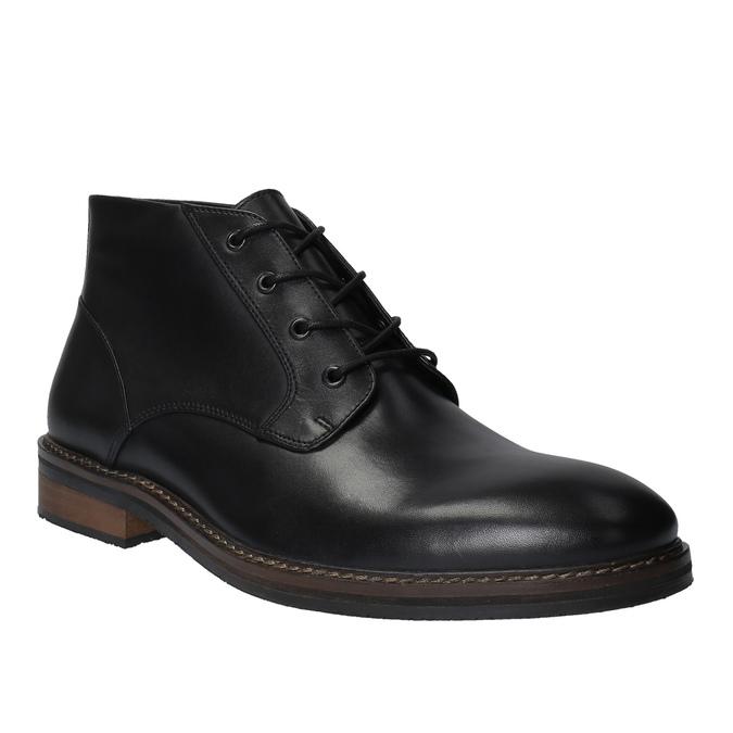 Kožená kotníčková obuv ve stylu Chukka Boots bata, černá, 824-6677 - 13