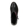 Kotníčková obuv s Etno vzorem bata, černá, 599-6604 - 19