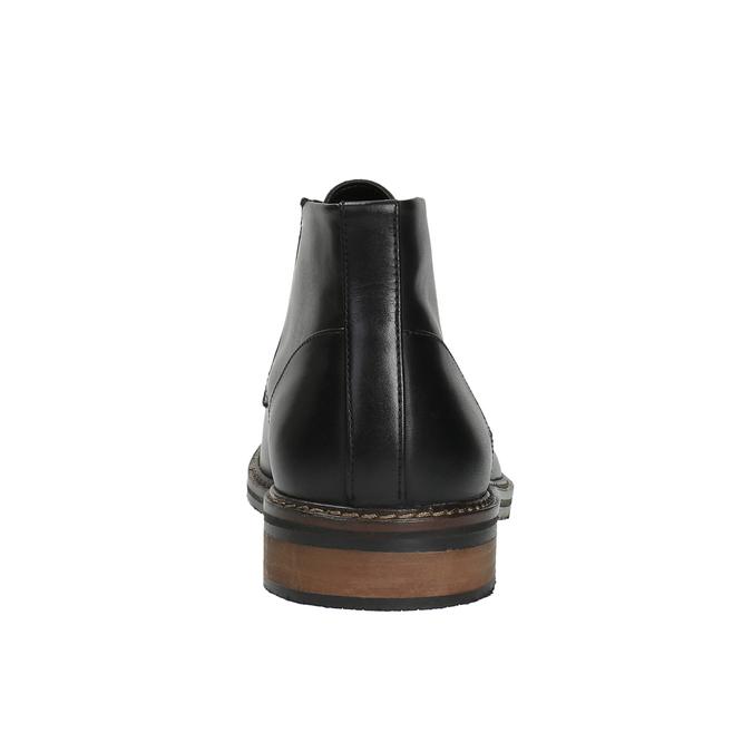Kožená kotníčková obuv ve stylu Chukka Boots bata, černá, 824-6677 - 17