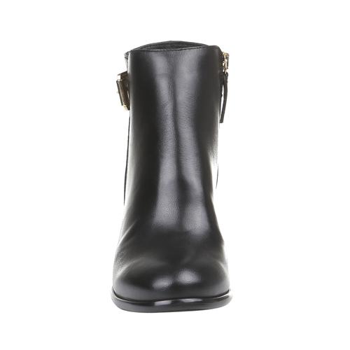 Kožené dámské kozačky bata, černá, 794-6447 - 16
