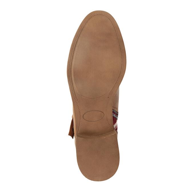 Kotníčkové kozačky v Etno stylu bata, hnědá, 599-4604 - 26