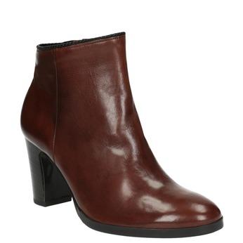 Dámská kotníčková obuv na podpatku gabor, hnědá, 794-3019 - 13