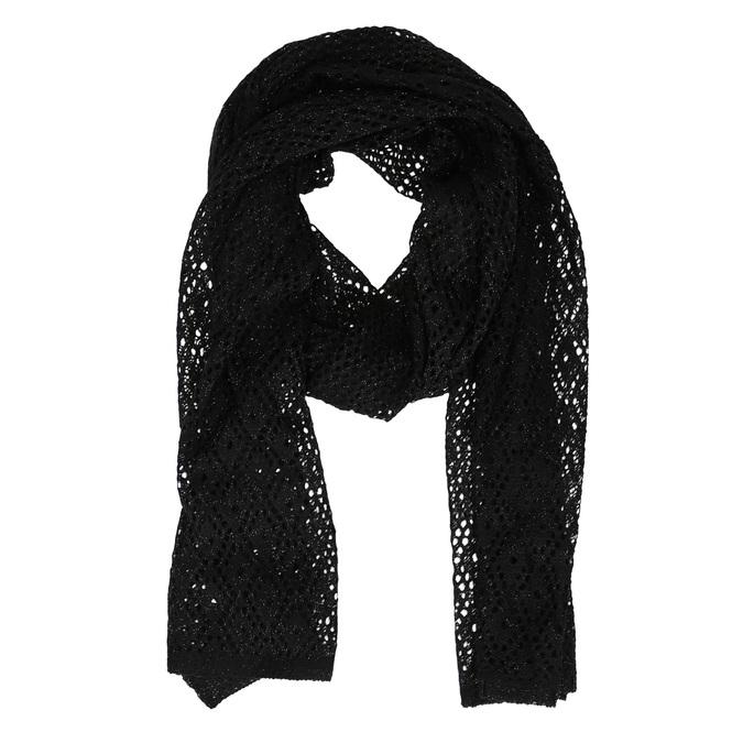 Dámská černá šála s jemným třpytem bata, černá, 909-6211 - 13