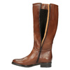 Kožené dámské kozačky bata, hnědá, 596-4608 - 19