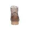 Dámská kožená zimní obuv weinbrenner, hnědá, 594-8491 - 17