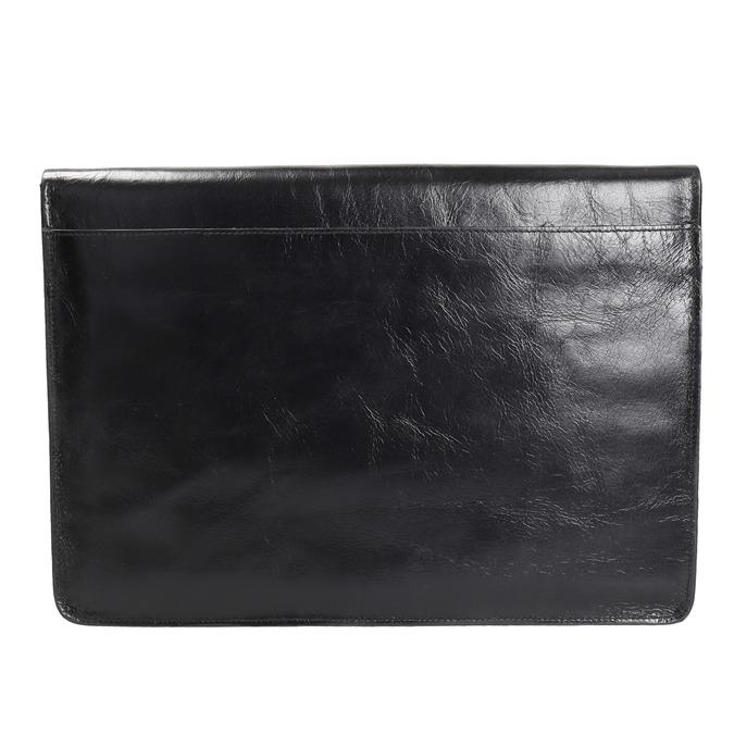 Taška na dokumenty kožená royal-republiq, černá, 964-6009 - 19