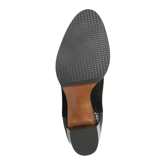 Kožená kotníčková obuv s pružnými boky bata, černá, 696-6644 - 26