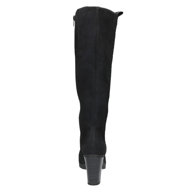 Dámské kožené kozačky bata, černá, 796-6608 - 17